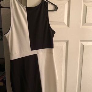 Black and white mini dress
